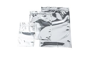 Foil package bag isolated