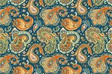 3 Paisley Seamless Patterns