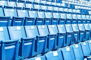 Modern blue stadium