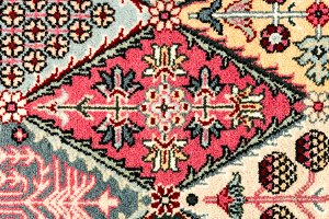 Pattern in oriental carpet