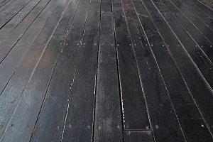 grunge black wood floor