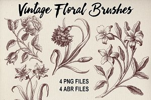 Vintage Florals Brush Sampler Set