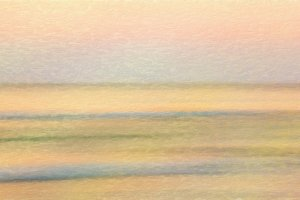 Abstract seascape at sunrise