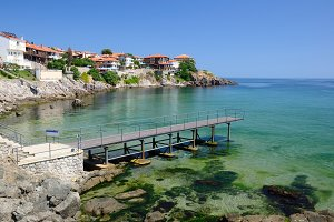 Black Sea coast in Sozopol, Bulgaria