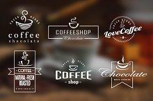 Coffee Retro Badges, Labels & Logos