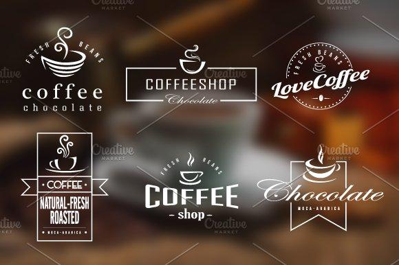 coffee retro badges labels logos logo templates creative market
