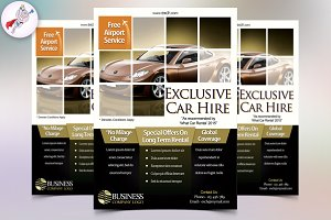 auto car flyer template flyer templates creative market
