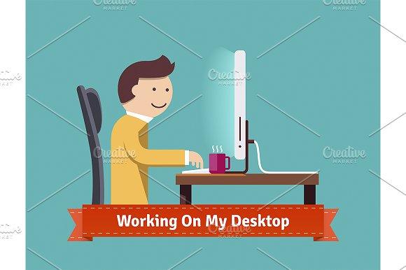 Working on my desktop concept.