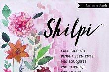 Watercolor Floral Clipart Bundle