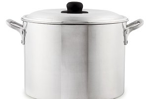 Silver cooking pot from