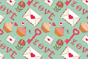 Vector Valentine's Day patterns.
