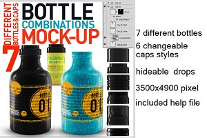 7 bottles mock up