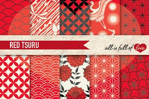 10 Japanese Background Patterns Pack