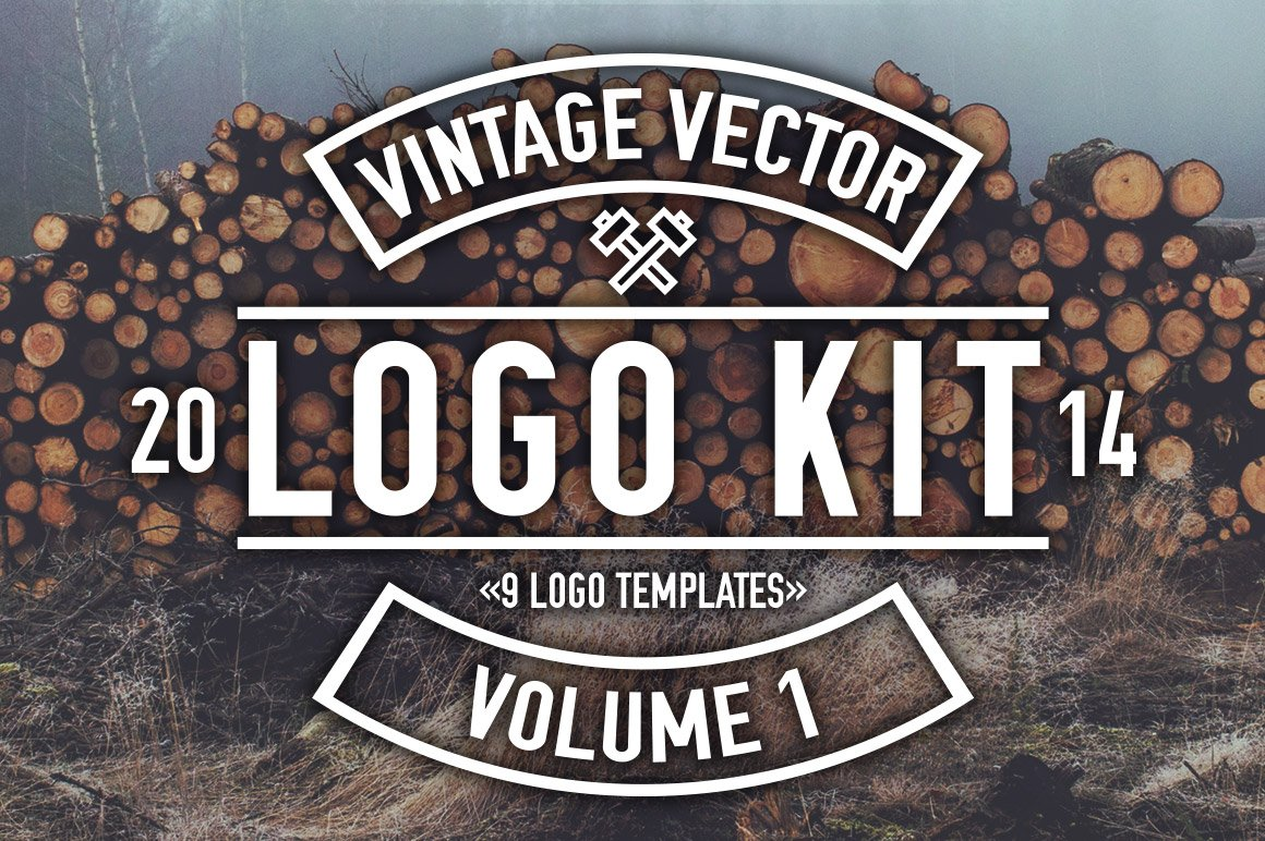 vintage vector logo kit logo templates creative market