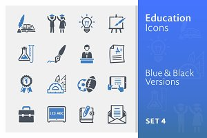 Education Icons Set 4 - Blue Series