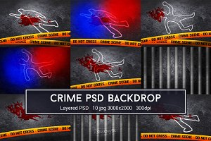 Crime Scene PSD Backdrop