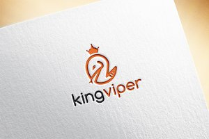 King Viper Logo Template