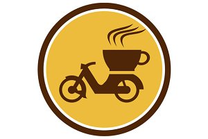 Coffee Delivery Motorcycle Circle