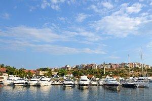 Yacht club in Sozopol, Bulgaria
