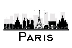 Paris City skyline silhouette