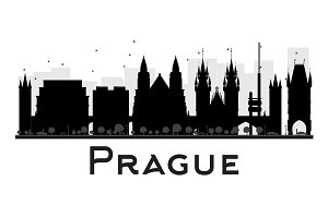 Prague City skyline silhouette