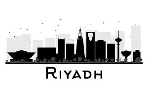 Riyadh City skyline silhouette