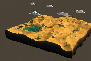 Low poly desert