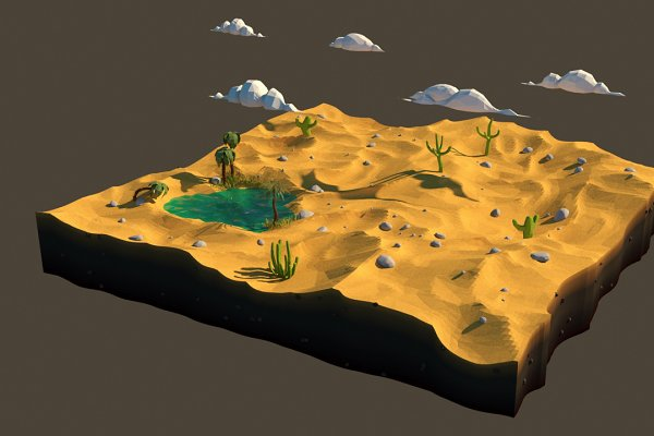 3D Environment - Low poly desert