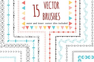 15 vector brushes with corners