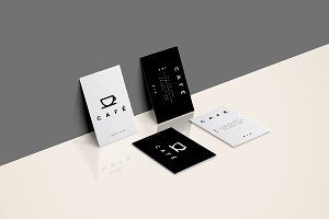Minimal Business Cards Cafe