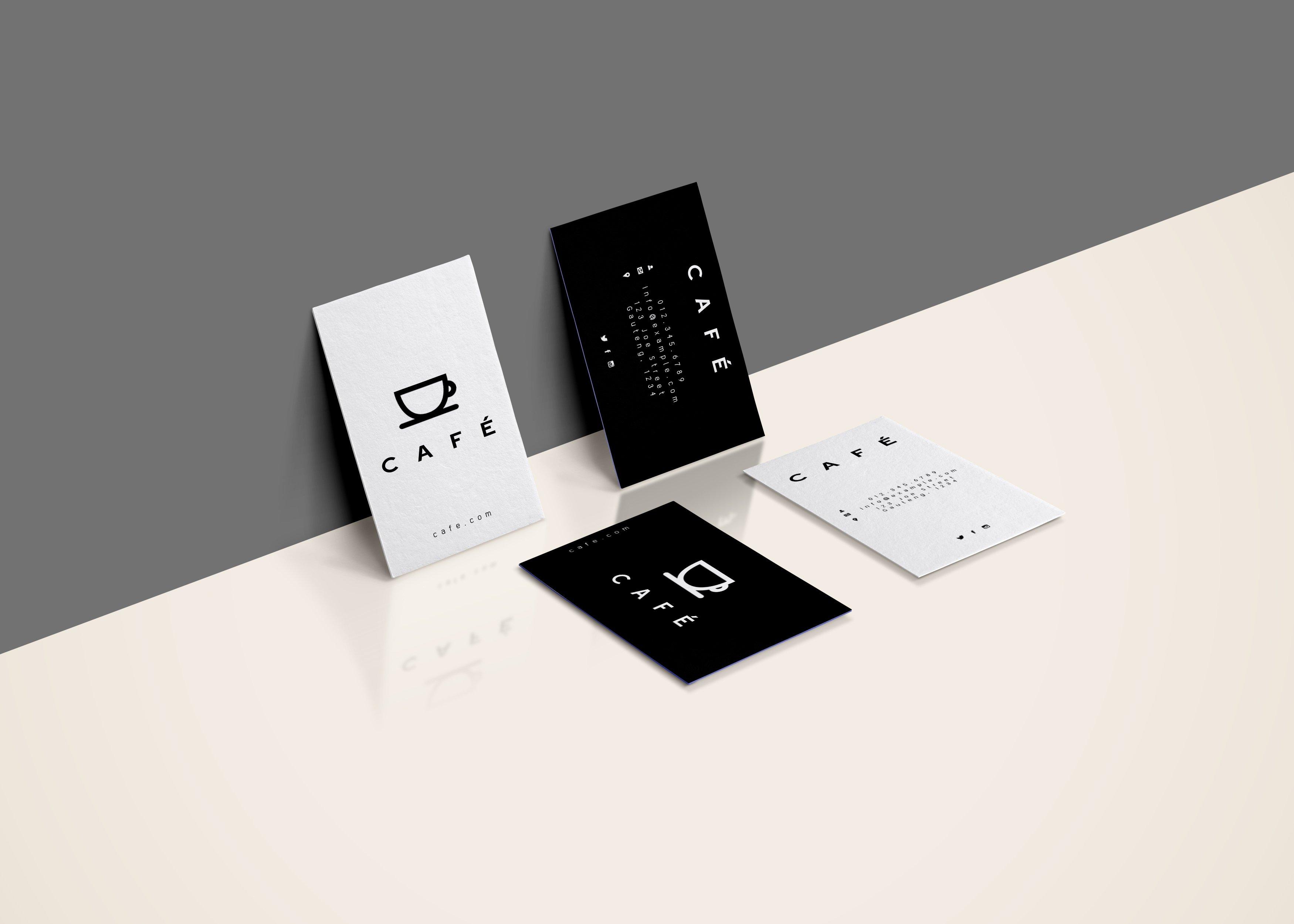 Minimal Business Cards Cafe Card Templates Creative Market