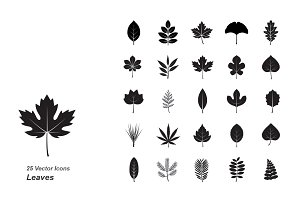 Leaves vector icons