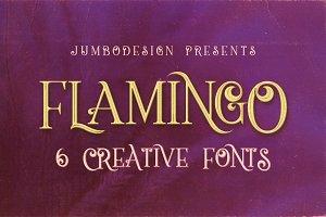 Flamingo - Vintage Style Font
