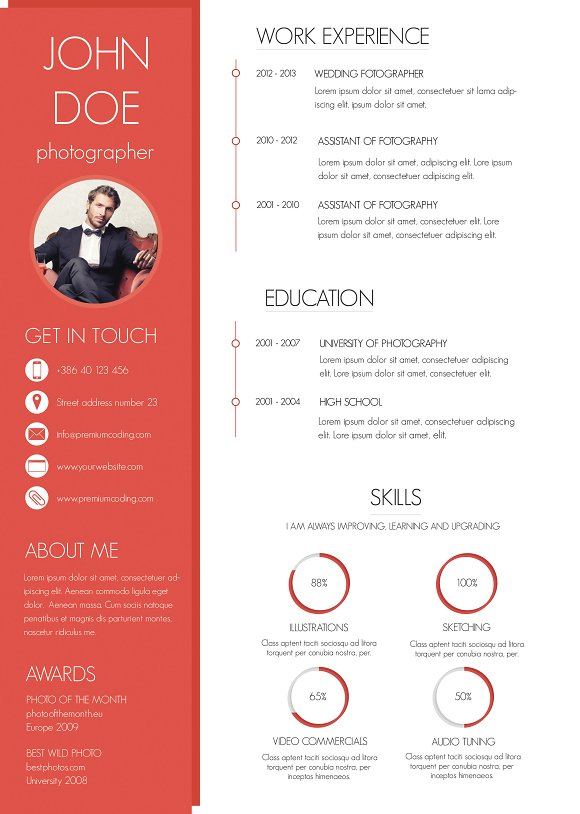 a colorful and modern resume resumes