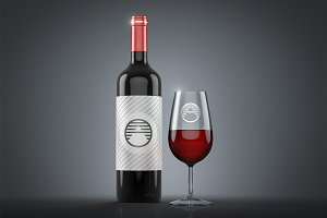 Wine Bottle 3D Layer