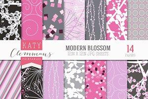 Modern Blossom patterned paper