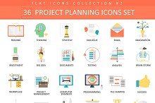 36 Project business planning icons