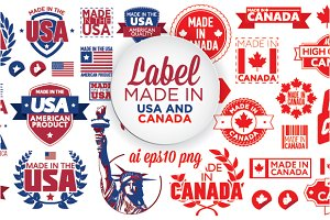 Label Made in the USA and Canada