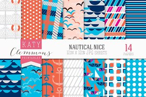 Nautical Nice patterned papers