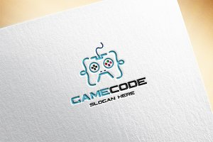 Game Code Logo Template