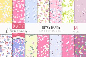 Ditsy Dandy patterned paper pack