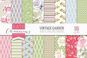 Vintage Garden papers