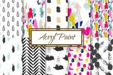 10 Seamless Acrylic Paint Patterns