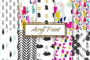 10 Seamless Acrylic Paint Patterns