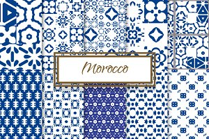 Morocco Blue and White Patterns