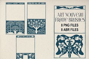 Art Nouveau Frame Brushes & PNGs