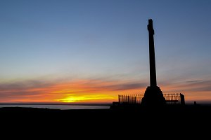 Tennyson Monument, Sunset IOW