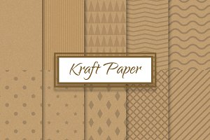 Kraft recycled paper patterns