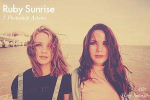 Ruby Sunrise - 3 Premium PS Actions