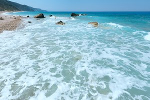 Lefkada coast (Greece)